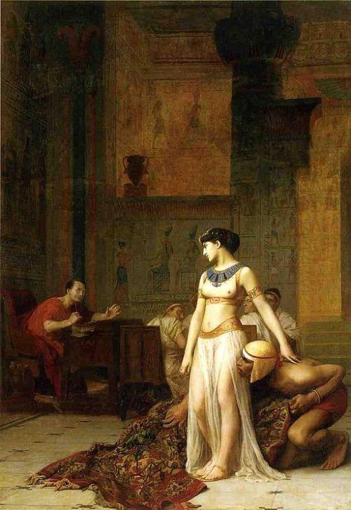 Cleopatra y Julio César