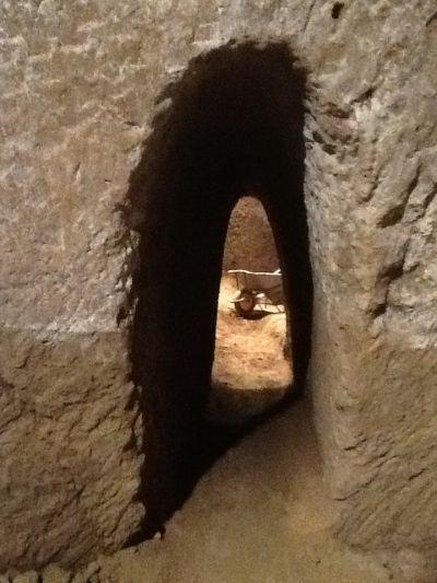 tunel subterraneo etrusco