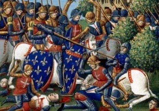 Prisioneros de guerra franceses en la Batalla de Agincourt