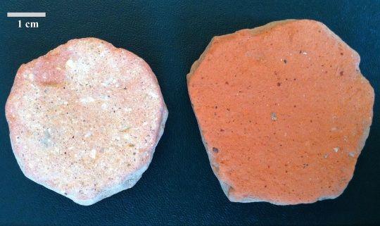Discos de cerámica empleadas en los baños romanos