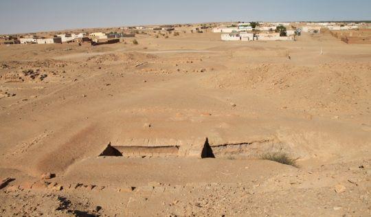 Restos de la antigua Pirámide de Piye, en Nubia.