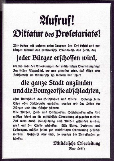 Folleto revolucionario de la Liga Espartaquista