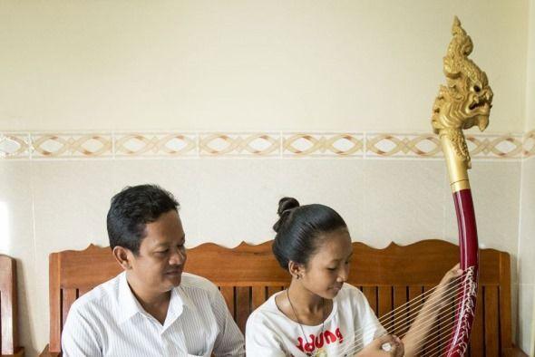 arpa camboyana antigua