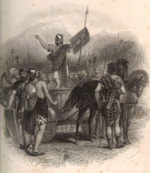 calgacus antes de la batalla contra roma