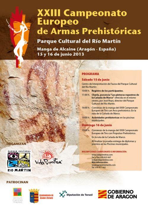 cartel campeonato europeo armas prehistoricas