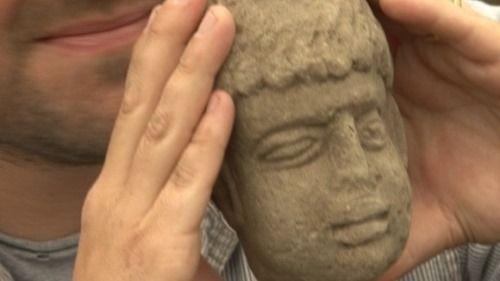 cabeza celta romana