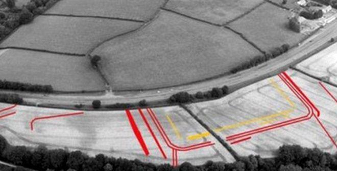 Vista aérea de la zona donde se encuentra el fuerte romano