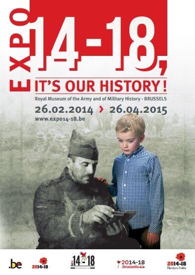 cartel exposicion i guerra mundial en belgica