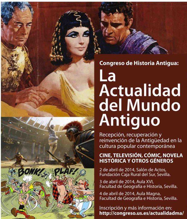 Cartel exposicion la actualidad del mundo antiguo universidad de sevilla