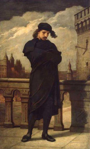 Hamlet, William Morris Hunt, 1864, óleo sobre lienzo. Museo de Bellas Artes de Boston