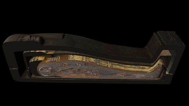 Visualización del sarcófago digitalizado. © The Interactive Institute Swedish ICT