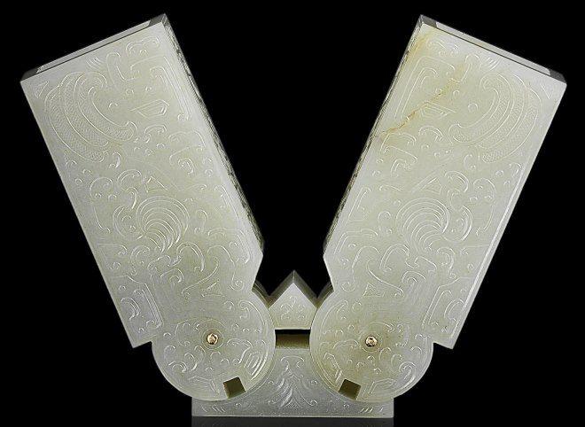 objeto jade dinastia qing
