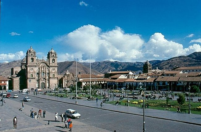 Plaza Mayor o de Armas en el centro de Cusco