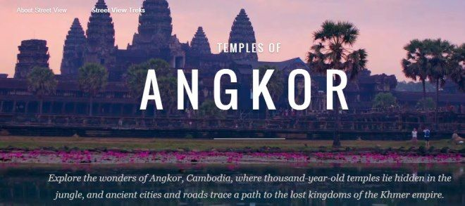 angkor temples street view