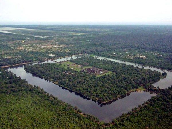 Vista aérea de Angkor Wat