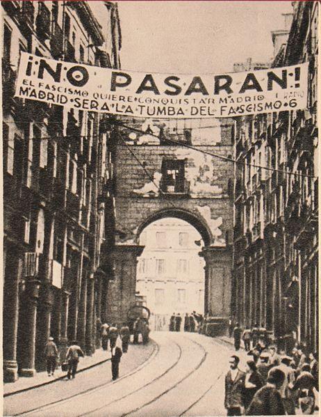 Fotografía de Madrid tomada por el escritor ruso Mijail Koltsov (1936 o 37).