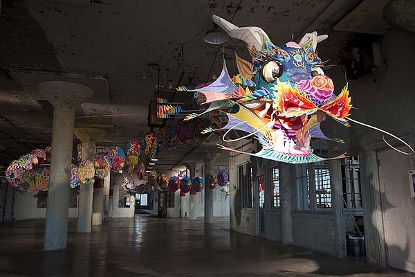 Exposición en el interior de Alcatraz