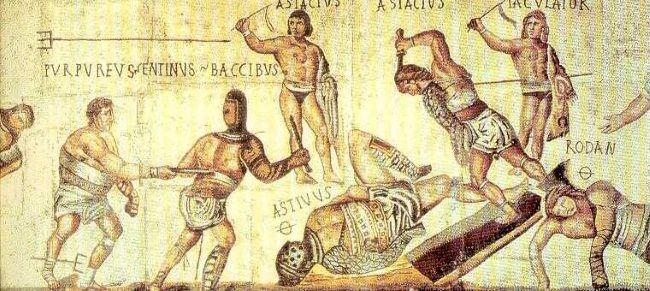 Gladiadores romanos. Crédito: Creative Commons