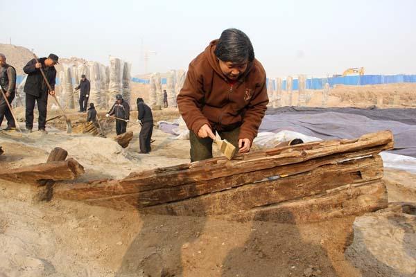 Naufragio encontrado en China. Crédito: kaogu.cn