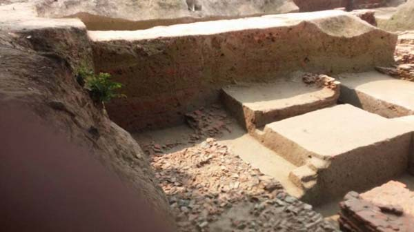 Templo budista descubierto en Bangladesh.