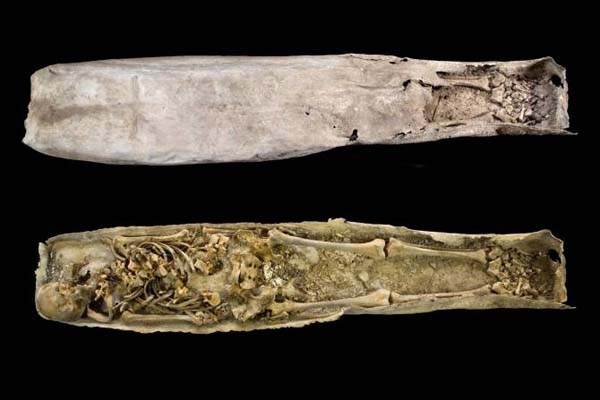 Ataúd de plomo encontrado junto a la tumba de Ricardo III.