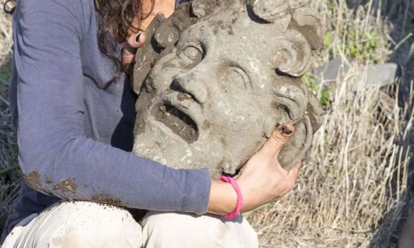 Máscara del Dios Pan descubierta en Israel.