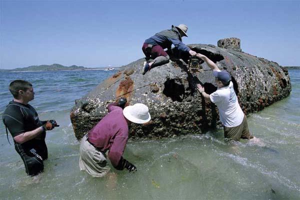 Submarino de más de 10 años descubierto en Panamá.