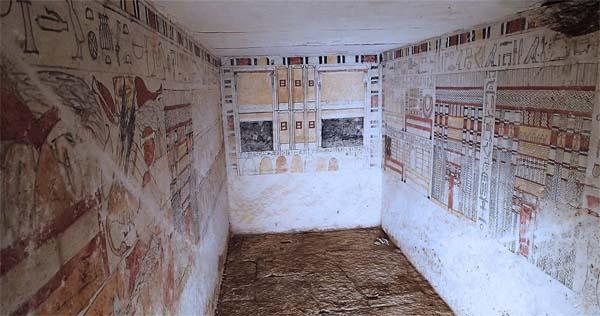 Tumbas de sacerdotes de la VI Dinastía hallada en Saqqara.