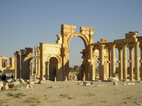 Ruinas monumentales de Palmira. Crédito: Aotearoa, Wikimedia.