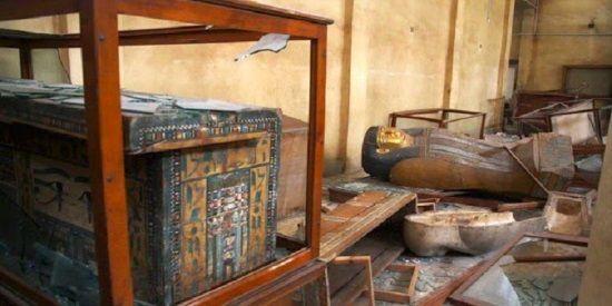 Egipto avanza en la reclamación de objetos contrabandeados a Israel en 2011. Crédito: Cairo Post.