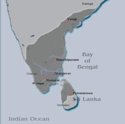 Territorios de la dinastía Pandya.
