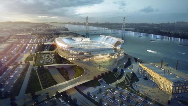 Diseño del nuevo estadio de St. Louis.