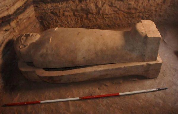 Tumba de la XXVI Dinastía hallada en Egipto. Crédito: Ministerio de Antigüedades.