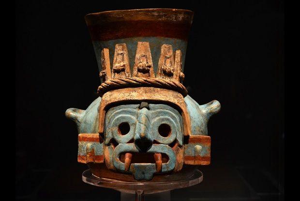Máscara de mascara de Tláloc, una de las joyas de la exposición. Crédito: INAH.