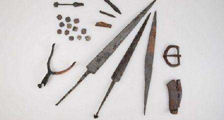 Objetos de la Batalla de Morgarten, Suiza.