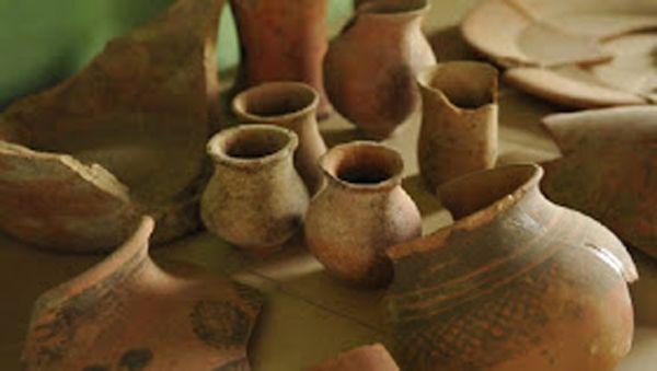 Piezas de cerámica de la civilización Harappa