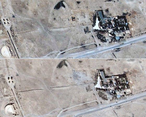 Arriba, una imagen del 16 de junio, abajo una fotografía del mismo lugar del 27 de agosto