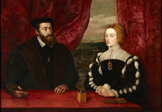 'El emperador Carlos V y la emperatriz Isabel de Portugal', de Rubens, una de las obras expuestas en el Museo Meadows