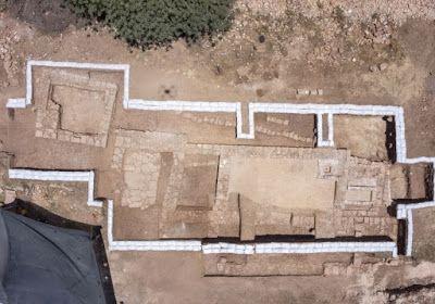 Vista de la planta de la iglesia de época bizantina