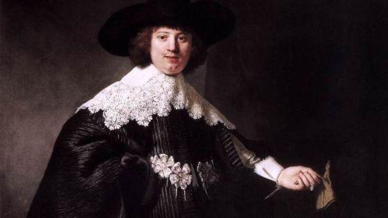 Maerten Soolmans retratado por Rembrandt