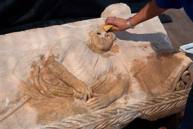 Sarcófago romano encontrado en Israel.
