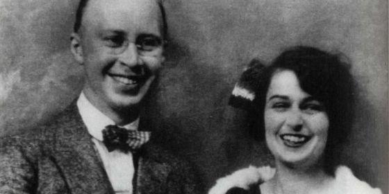 Serguéi y Lina Prokófiev, en 1921