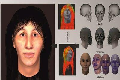 Reconstrucción facial del esqueleto de la mujer iraní encontrado en Teherán
