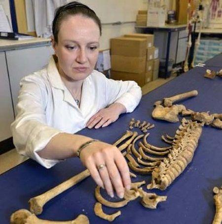 Restos óseos de prisioneros de la Batalla de Dunbar.