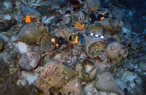 Naufragio de Fourni. Crédito: Eforato de Antigüedades Submarinas de Grecia.