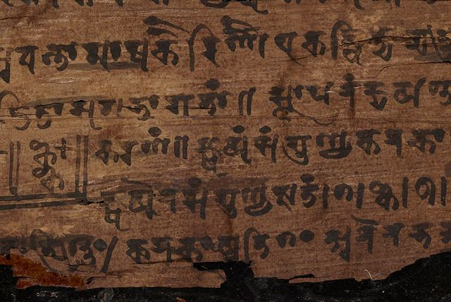 marcador cero manuscrito bakhshali