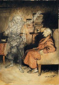 Scrooge y el fantasma de Marley