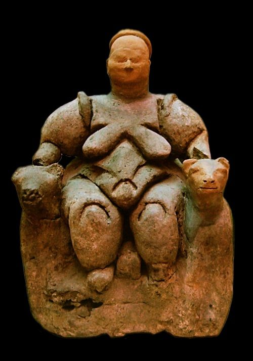 mujer sentada Çatalhöyük