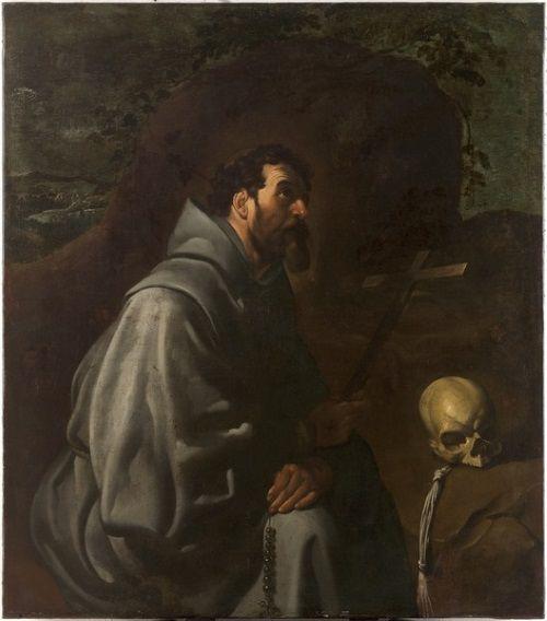 cuadro san francisco asis en oracion