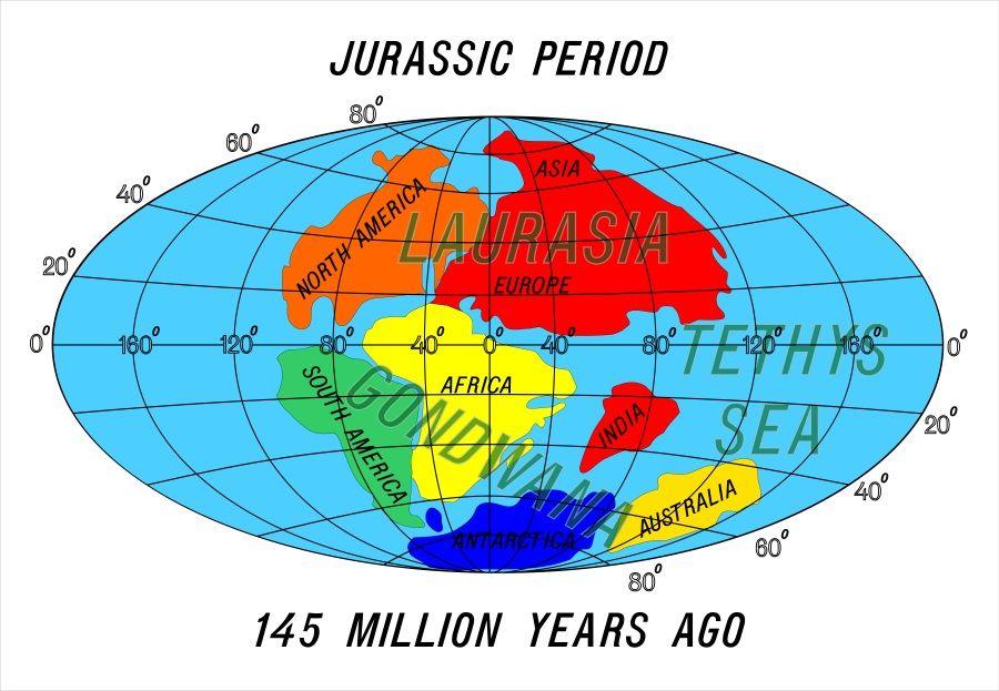 continentes jurasico pangea
